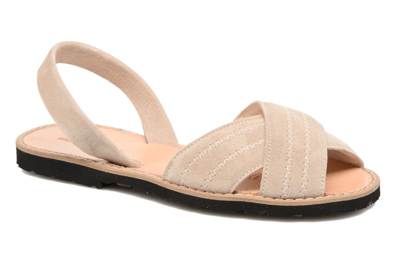 Sandales et nu-pieds MINORQUINES Avarca Berlin Beige vue détail/paire