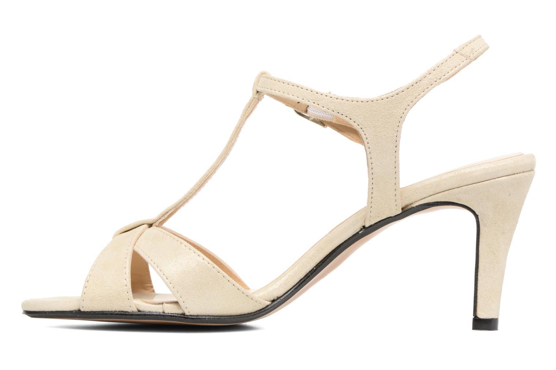 Sandales et nu-pieds Georgia Rose Satine Beige vue face