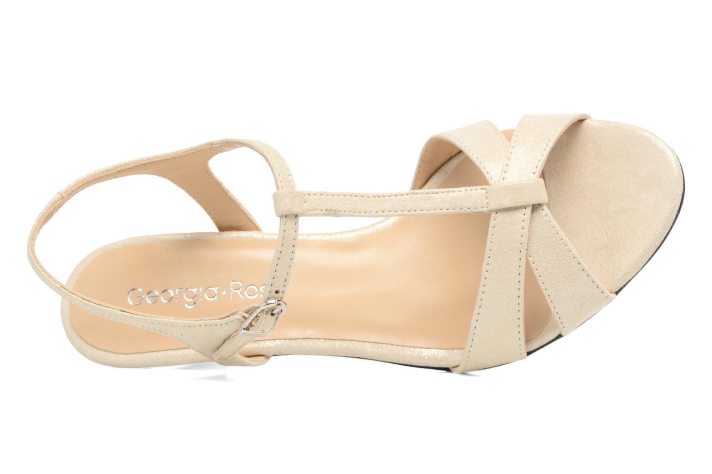 Sandales et nu-pieds Georgia Rose Satine Beige vue gauche