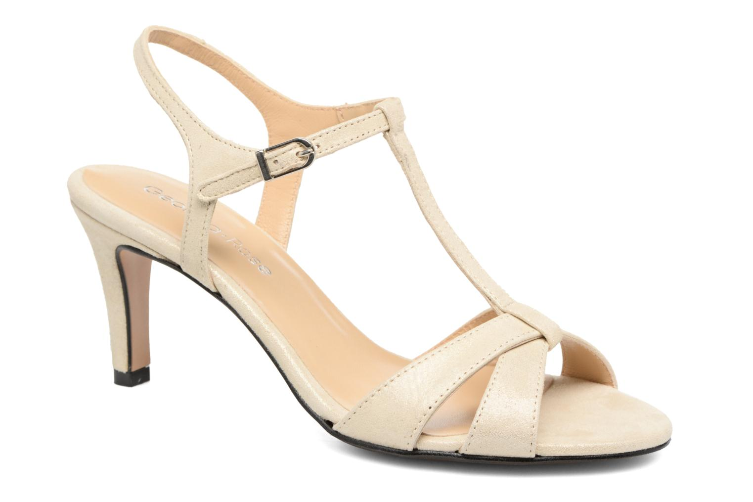 Sandals Georgia Rose Satine Beige detailed view/ Pair view