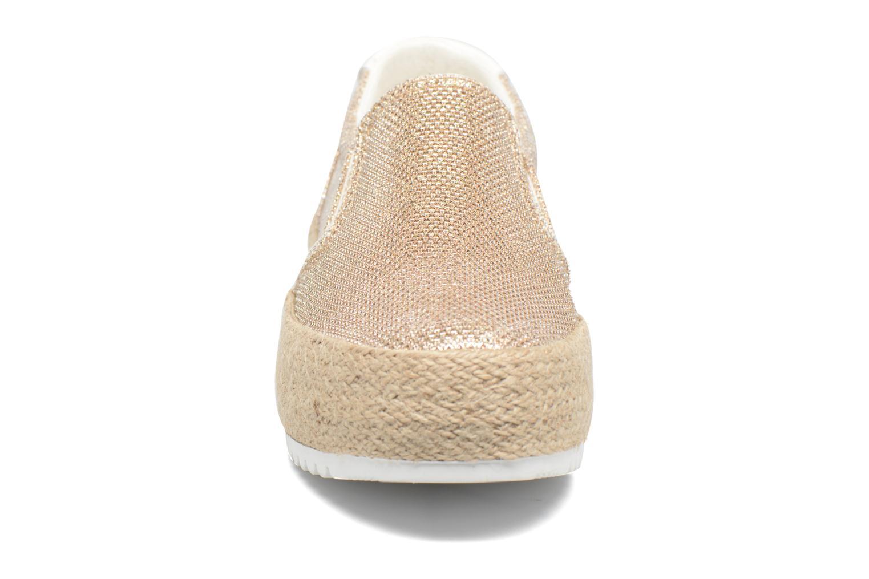 Mocassins MTNG Evan 69224 Or et bronze vue portées chaussures