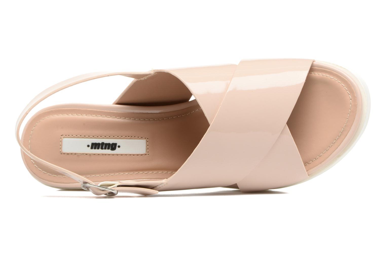 Sandales et nu-pieds MTNG Plexy 55413 Beige vue gauche
