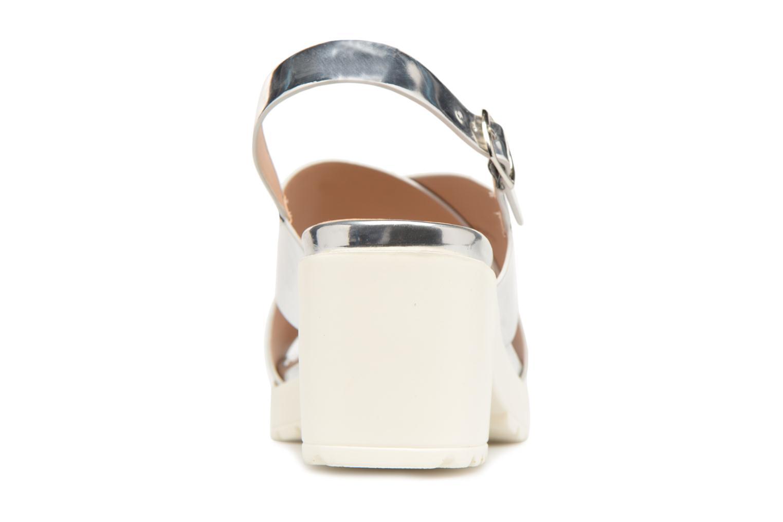 Sandales et nu-pieds MTNG Plexy 55413 Argent vue droite