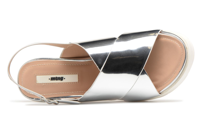 Sandali e scarpe aperte MTNG Plexy 55413 Argento immagine sinistra