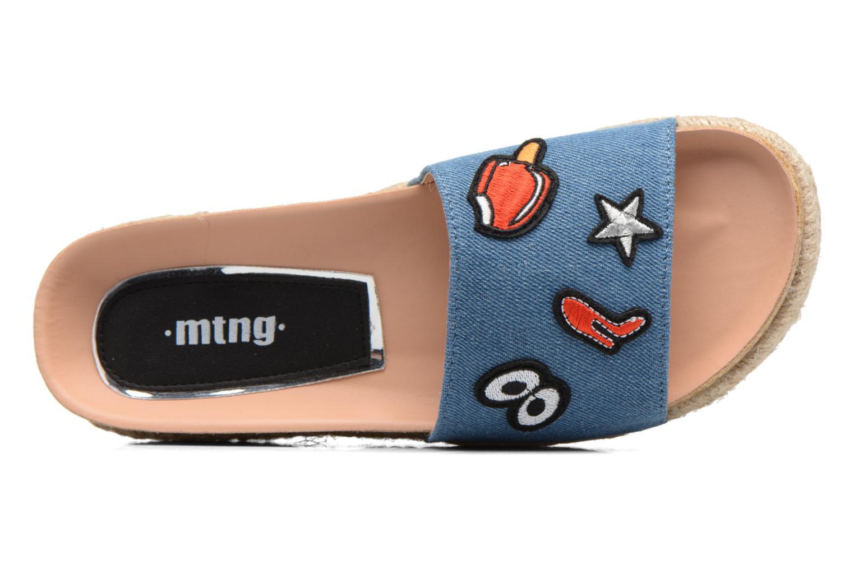 Mules et sabots MTNG Dakota 50823 Bleu vue gauche