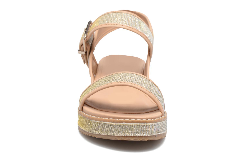 Sandali e scarpe aperte MTNG Marguerita 50801 Oro e bronzo modello indossato