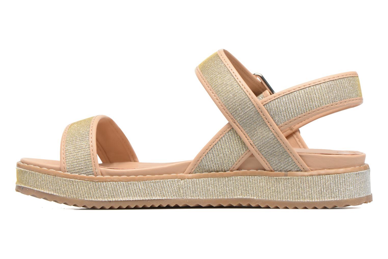 Sandales et nu-pieds MTNG Marguerita 50801 Or et bronze vue face