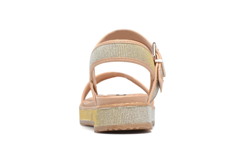 Sandales et nu-pieds MTNG Marguerita 50801 Or et bronze vue droite