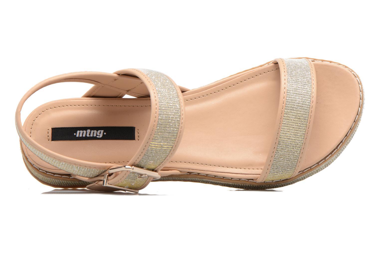 Sandales et nu-pieds MTNG Marguerita 50801 Or et bronze vue gauche