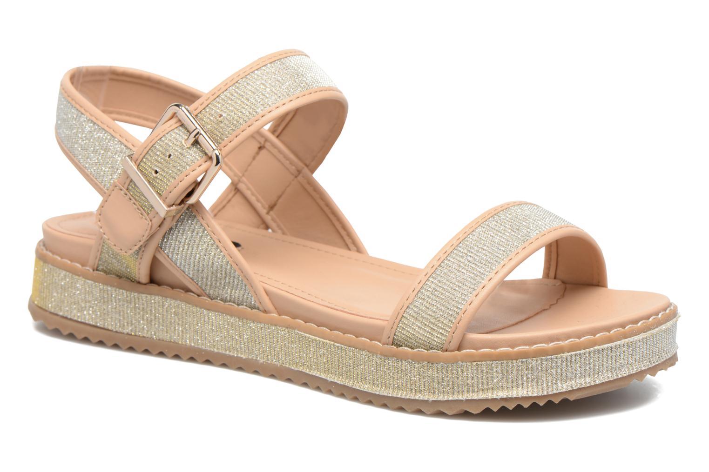 Sandales et nu-pieds MTNG Marguerita 50801 Or et bronze vue détail/paire