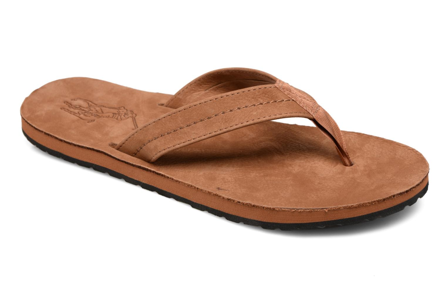 Flip flops Polo Ralph Lauren Edgemont Brown detailed view/ Pair view