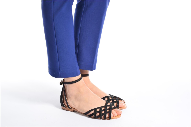 Sandales et nu-pieds Petite mendigote Chicoree Rose vue bas / vue portée sac