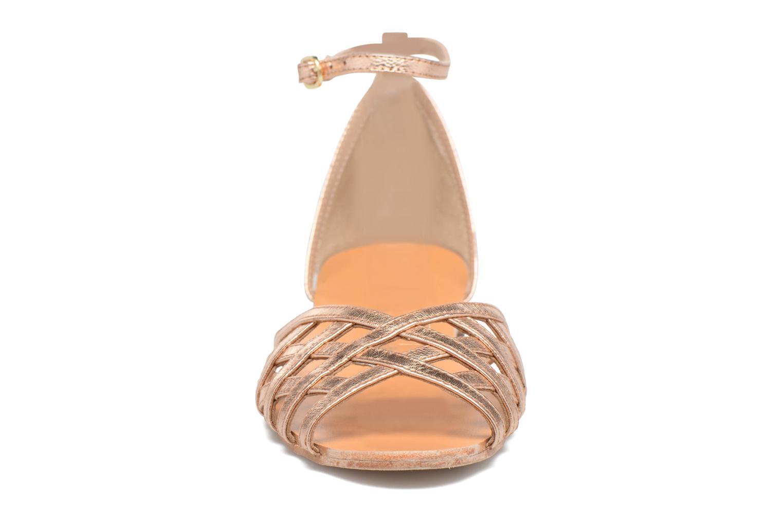Sandales et nu-pieds Petite mendigote Chicoree Rose vue portées chaussures