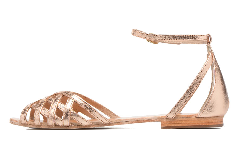 Sandales et nu-pieds Petite mendigote Chicoree Rose vue face