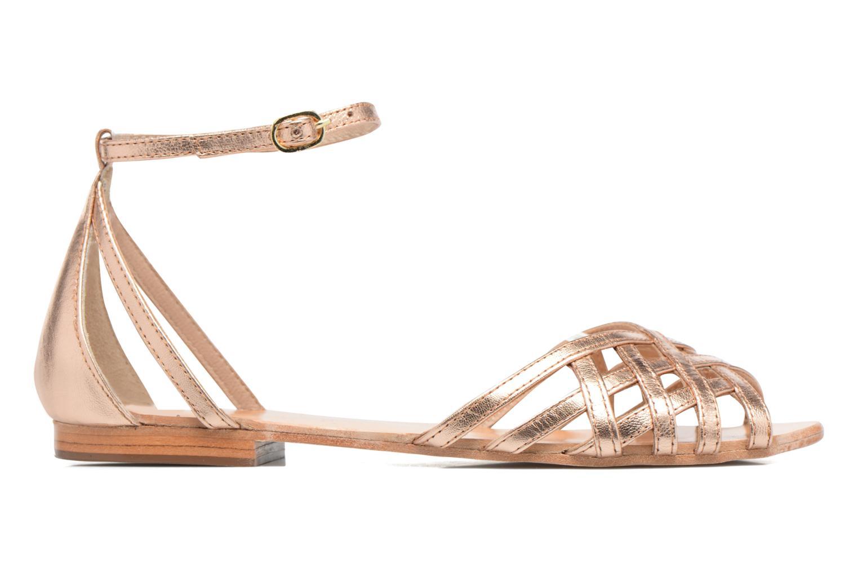 Sandales et nu-pieds Petite mendigote Chicoree Rose vue derrière