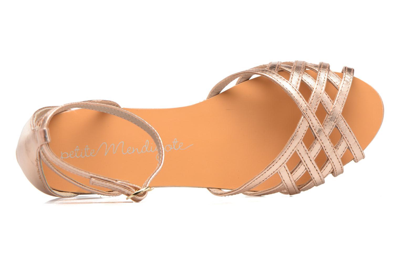 Sandali e scarpe aperte Petite mendigote Chicoree Rosa immagine sinistra