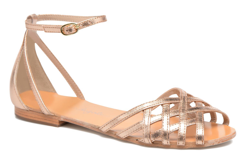 Sandales et nu-pieds Petite mendigote Chicoree Rose vue détail/paire
