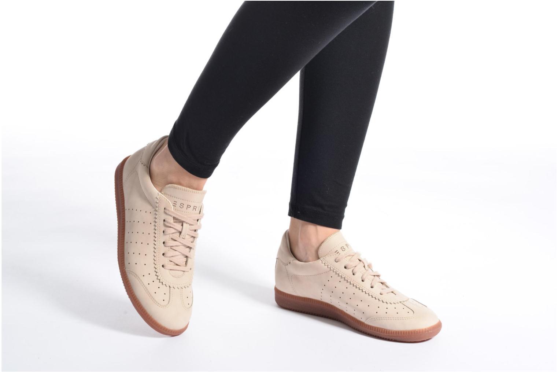 Sneaker Esprit Trainee Lace Up braun ansicht von unten / tasche getragen