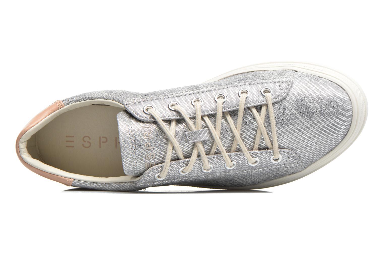 Sneaker Esprit Sidney Lace Up silber ansicht von links