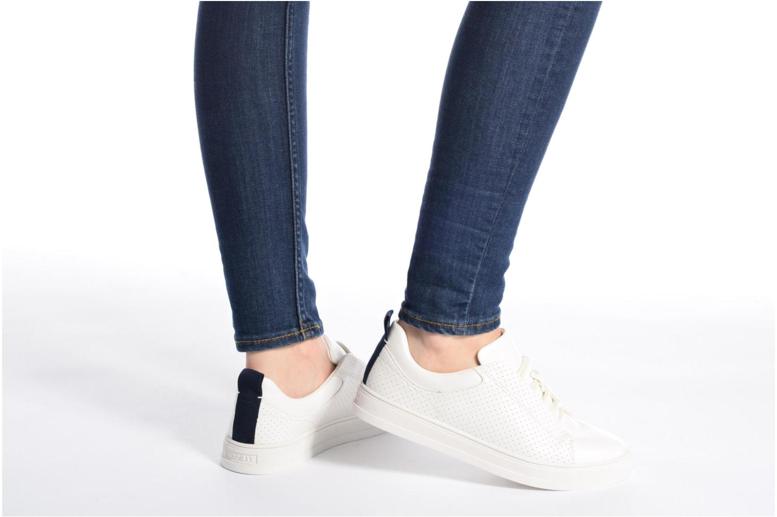 Sneakers Esprit Sidney Perf lace up Bianco immagine dal basso