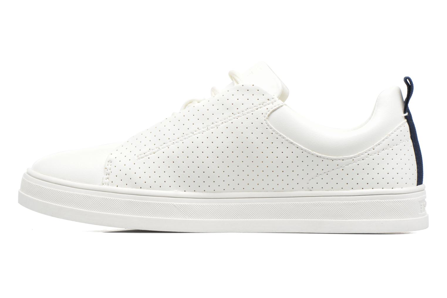Sneakers Esprit Sidney Perf lace up Bianco immagine frontale