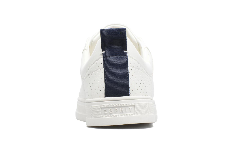 Baskets Esprit Sidney Perf lace up Blanc vue droite