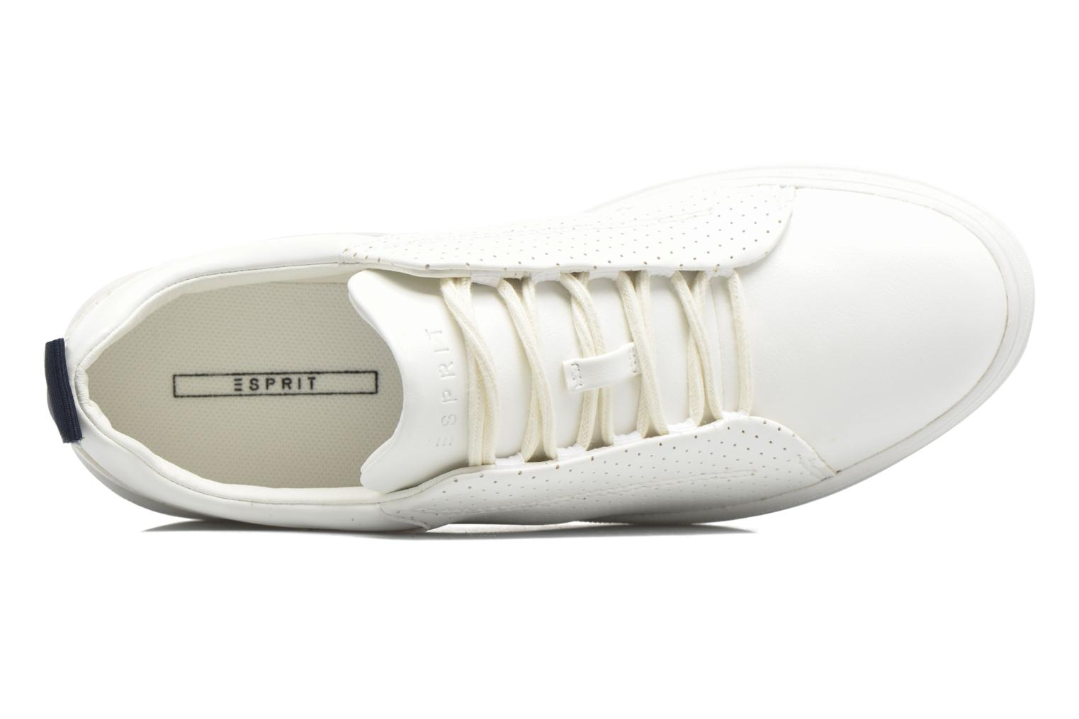 Sneakers Esprit Sidney Perf lace up Bianco immagine sinistra