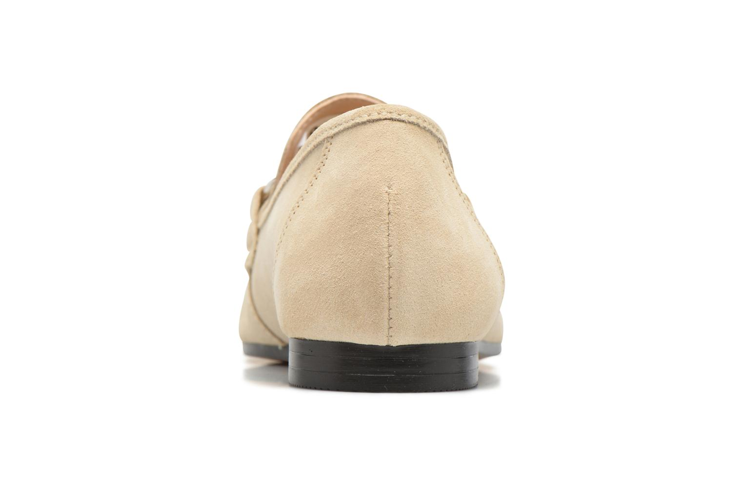 Mocasines Esprit Mia Loafer Beige vista lateral derecha