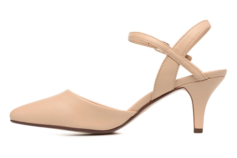 High heels Esprit Pyra Sandal Beige front view