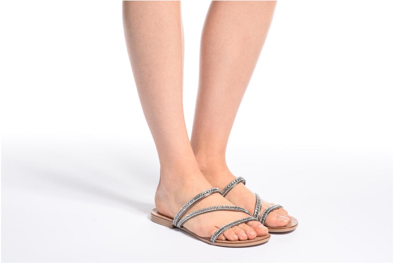 Sandales et nu-pieds Esprit Nil sandal Argent vue bas / vue portée sac