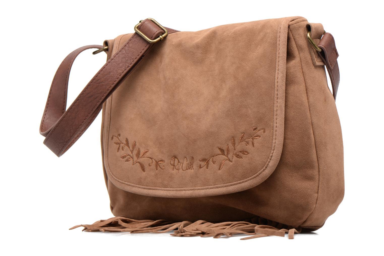 Handtaschen Rip Curl Talamanca suede Shoulder bag braun schuhe getragen