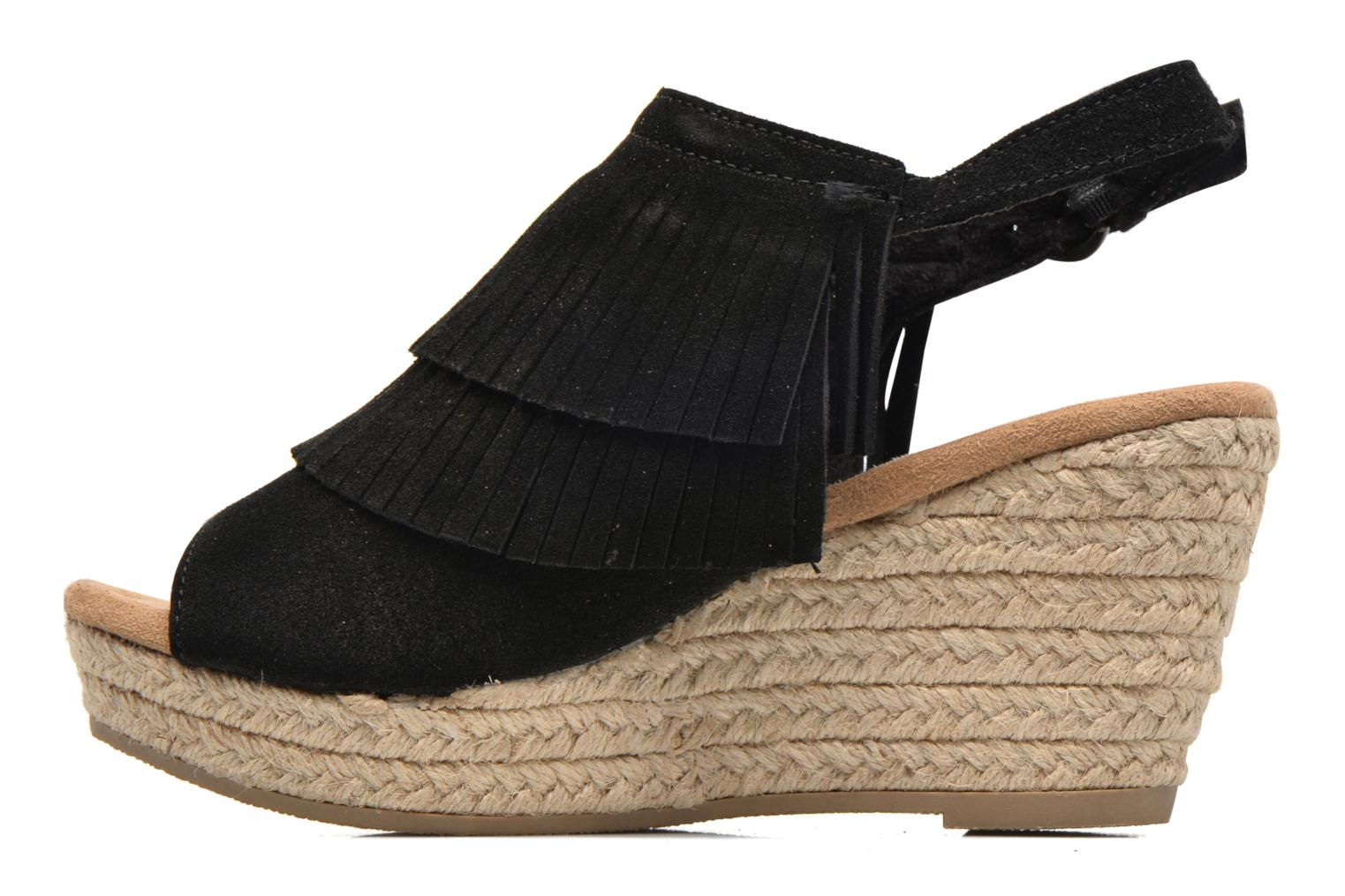 Sandalias Minnetonka Ashley Negro vista de frente