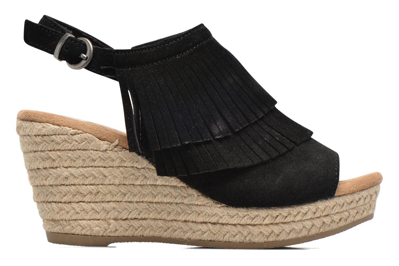 Sandales et nu-pieds Minnetonka Ashley Noir vue derrière
