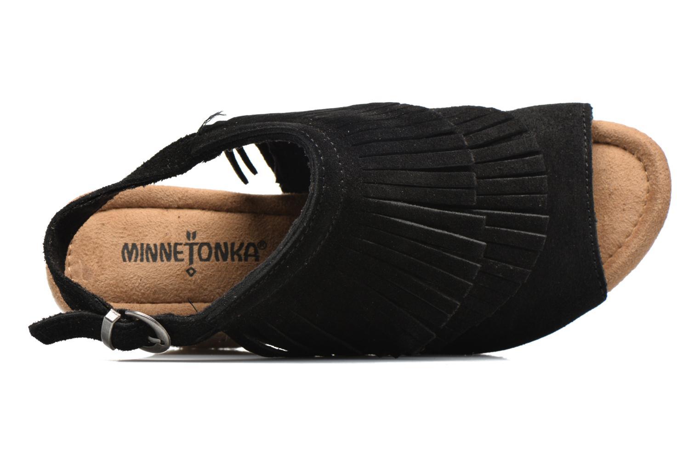 Sandales et nu-pieds Minnetonka Ashley Noir vue gauche