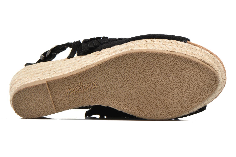 Sandales et nu-pieds Minnetonka Ashley Noir vue haut