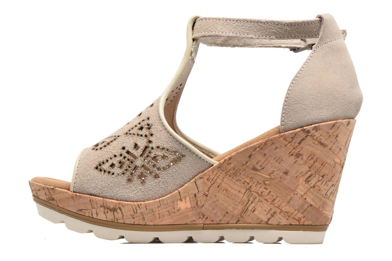 Sandales et nu-pieds Minnetonka Ellis Gris vue face