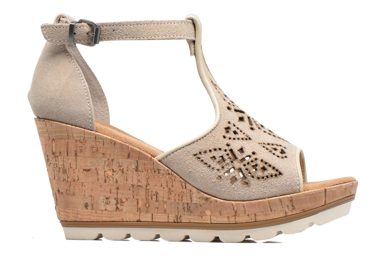 Sandales et nu-pieds Minnetonka Ellis Gris vue derrière