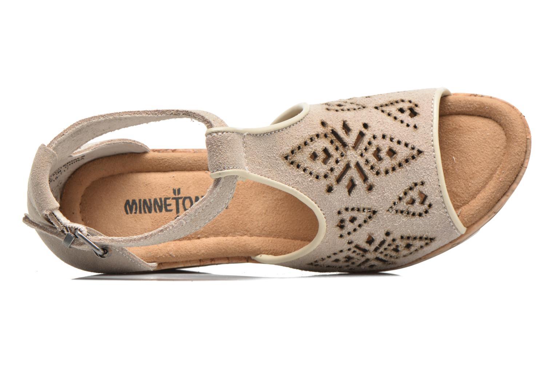 Sandales et nu-pieds Minnetonka Ellis Gris vue gauche