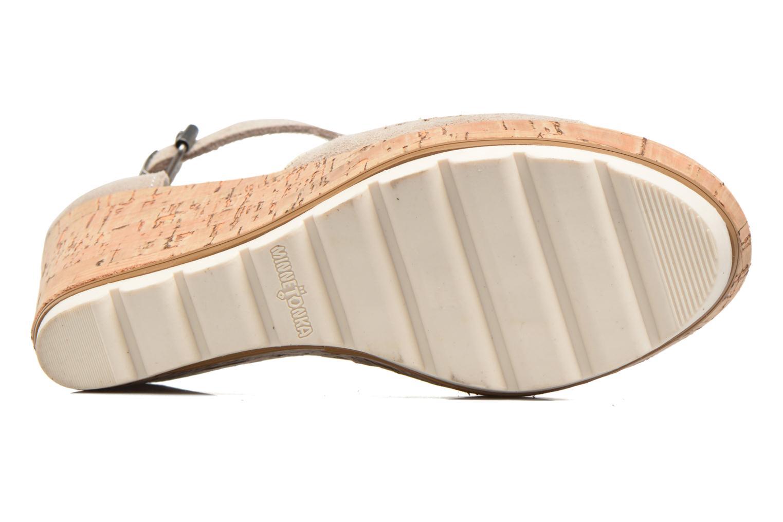Sandales et nu-pieds Minnetonka Ellis Gris vue haut
