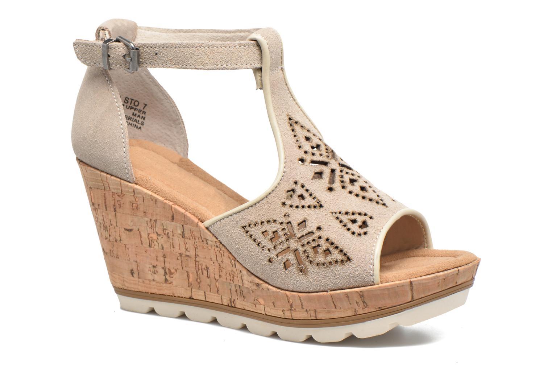 Sandales et nu-pieds Minnetonka Ellis Gris vue détail/paire