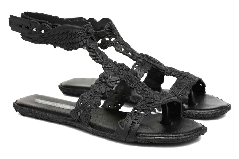 Sandals Melissa Campana Barroca Sandal Black 3/4 view