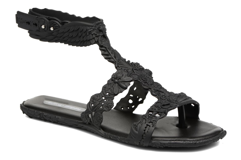 Sandals Melissa Campana Barroca Sandal Black detailed view/ Pair view