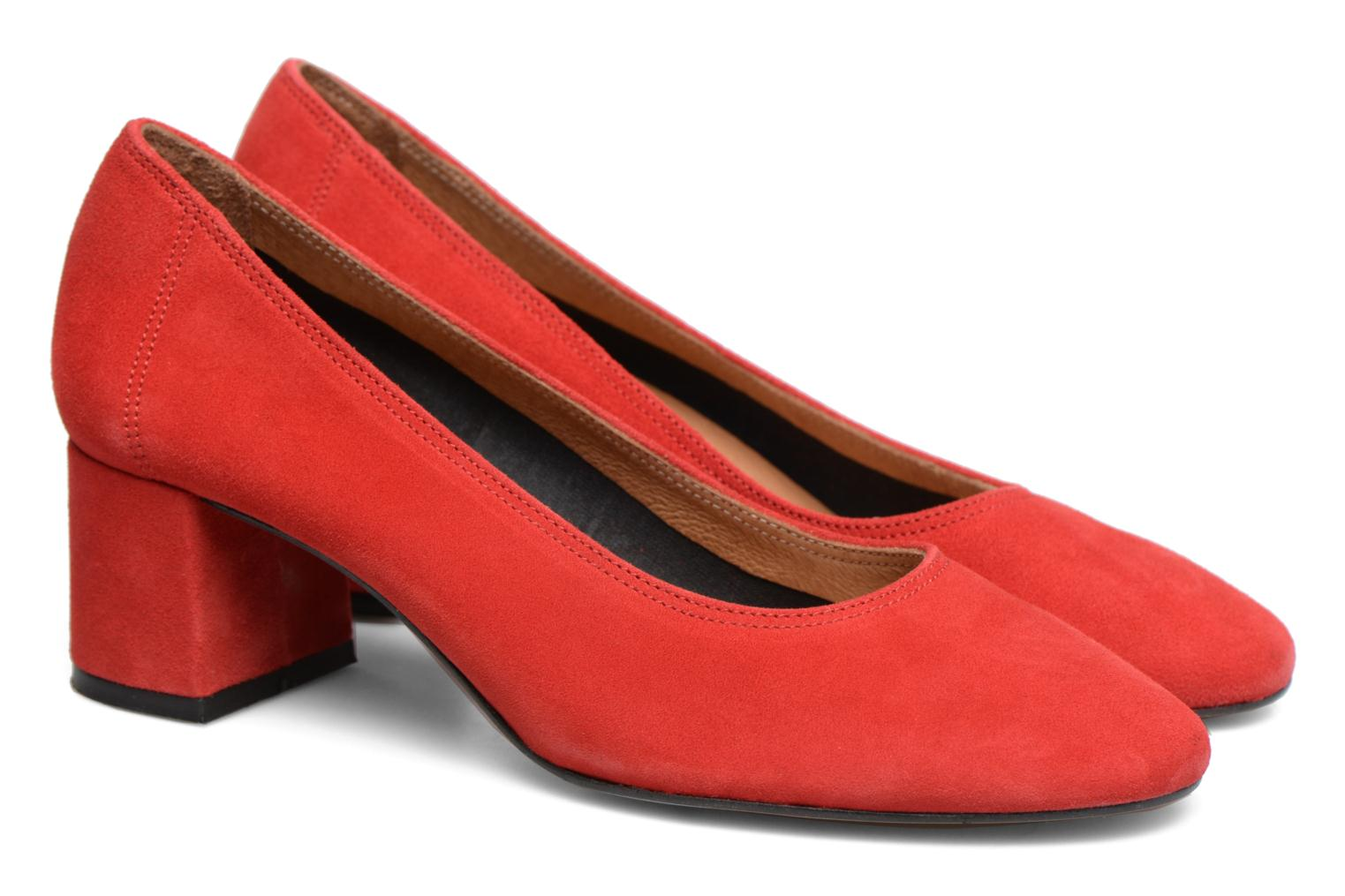 Crazy Seventy #10 cuir velours rouge