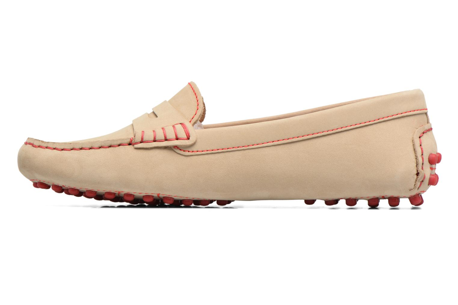 Mocasines Georgia Rose Stamac Beige vista de frente