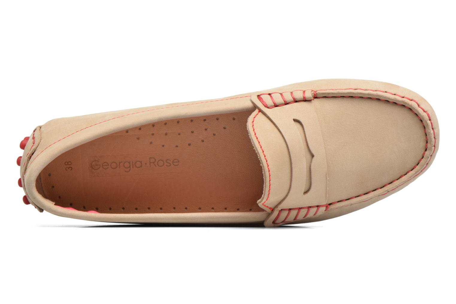 Mocasines Georgia Rose Stamac Beige vista lateral izquierda