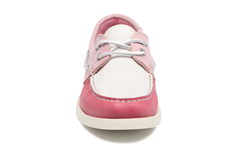 Zapatos con cordones Georgia Rose Stateau Rosa vista del modelo