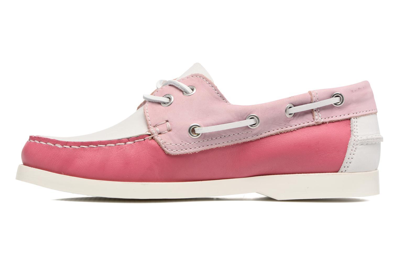 Zapatos con cordones Georgia Rose Stateau Rosa vista de frente
