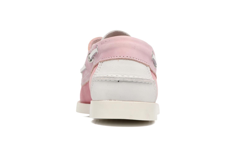 Zapatos con cordones Georgia Rose Stateau Rosa vista lateral derecha
