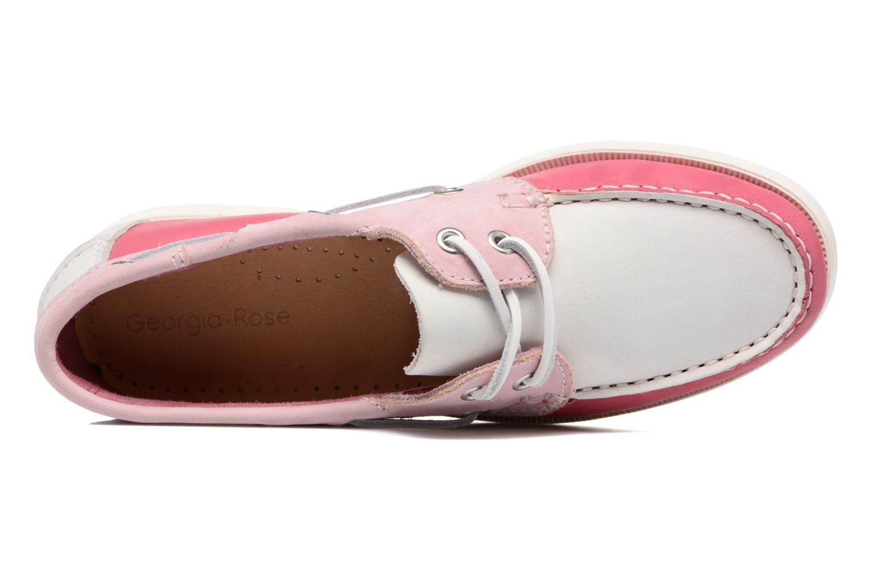 Zapatos con cordones Georgia Rose Stateau Rosa vista lateral izquierda