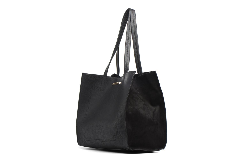 Handtassen Dorothy Perkins Suede Side Shopper Zwart voorkant